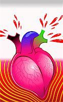 Illustration of heart oozing blood Stock Photo - Royalty-Freenull, Code: 400-04514243