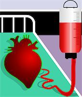 Illustration of heart accepting blood Stock Photo - Royalty-Freenull, Code: 400-04514244