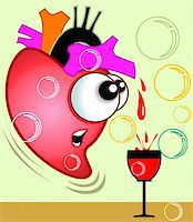 Illustration of heart pouring blood to goblet Stock Photo - Royalty-Freenull, Code: 400-04514246