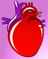 Illustration of heart in violet background Stock Photo - Royalty-Freenull, Code: 400-04514273