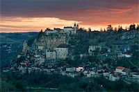 To get dark in the village of Rocamadour (France) Stock Photo - Royalty-Freenull, Code: 400-04517292