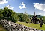 A stavechurch - stavkirke - in Norway. Stock Photo - Royalty-Free, Artist: Leaf                          , Code: 400-04520280