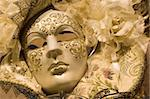 white and gold masque for Carnival Stock Photo - Royalty-Free, Artist: sedmak                        , Code: 400-04521135