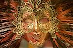 mask from venice - gold red Stock Photo - Royalty-Free, Artist: sedmak                        , Code: 400-04521137