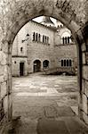 Court in Rocamadour's abbey in the French perigord Stock Photo - Royalty-Free, Artist: JavierGil                     , Code: 400-04521958