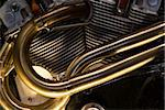 Motorcycle Engine Details Stock Photo - Royalty-Free, Artist: jon11                         , Code: 400-04522640