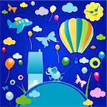 happy world, abstract design for kids Stock Photo - Royalty-Free, Artist: dip                           , Code: 400-04526923