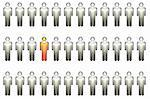 Standing Out In a Crowd on White Background Stock Photo - Royalty-Free, Artist: kentoh                        , Code: 400-04528259