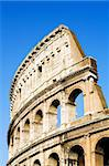Colosseum in Rome under clear blue sky Stock Photo - Royalty-Free, Artist: sascha                        , Code: 400-04532822