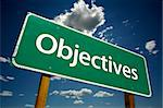 Objectives Road Sign with dramatic clouds and sky. Stock Photo - Royalty-Free, Artist: Feverpitched                  , Code: 400-04534267