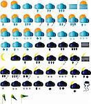 Weather icons for all seasons, day and night