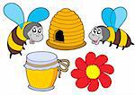 Bee and honey collection - vector illustration. Stock Photo - Royalty-Free, Artist: clairev                       , Code: 400-04535467