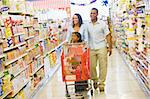Family shopping for groceries in supermarket Stock Photo - Royalty-Free, Artist: MonkeyBusinessImages          , Code: 400-04536028
