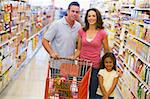 Family shopping for groceries in supermarket Stock Photo - Royalty-Free, Artist: MonkeyBusinessImages          , Code: 400-04536030