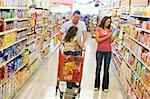 Family shopping for groceries in supermarket Stock Photo - Royalty-Free, Artist: MonkeyBusinessImages          , Code: 400-04536031