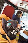 Firefighters travelling to an emergency Stock Photo - Royalty-Free, Artist: MonkeyBusinessImages          , Code: 400-04536361