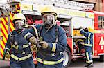 Firefighters in protective workwear Stock Photo - Royalty-Free, Artist: MonkeyBusinessImages          , Code: 400-04536485