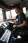 Firefighters on their way to an emergency scene Stock Photo - Royalty-Free, Artist: MonkeyBusinessImages          , Code: 400-04536487