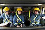 Firefighters on their way to an emergency scene Stock Photo - Royalty-Free, Artist: MonkeyBusinessImages          , Code: 400-04536492