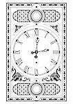 elegant victorian clock face and hands with decorative elements Stock Photo - Royalty-Free, Artist: fotomy                        , Code: 400-04537110