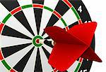 dartboard and flying on white background Stock Photo - Royalty-Free, Artist: TM_Design                     , Code: 400-04542781