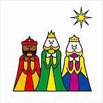 three wise men Stock Photo - Royalty-Free, Artist: welburnstuart                 , Code: 400-04545118