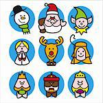 stilized illustration of christmas characters Stock Photo - Royalty-Free, Artist: welburnstuart                 , Code: 400-04545122