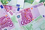 Hundred and five hundred bills of euros