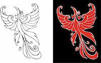 frbird - Firebird, mythical creature from russian tales, element for design, vector illustration Stock Photo - Royalty-Freenull, Code: 400-04545851