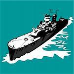 Vector art on battleships Stock Photo - Royalty-Free, Artist: patrimonio                    , Code: 400-04548162