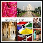 Collage of photos of India with copyspace for text. Stock Photo - Royalty-Free, Artist: mschalke                      , Code: 400-04549582