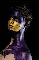 young male model wearing artistic bodypaint drawing Stock Photo - Royalty-Freenull, Code: 400-04557377