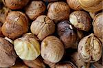Closeup of couple of brown cleaned hazelnuts Stock Photo - Royalty-Free, Artist: kommaz                        , Code: 400-04558129
