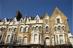 A row of victorian townhouses in England