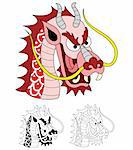 A vector cute dragon illustration. Stock Photo - Royalty-Free, Artist: mylefthand                    , Code: 400-04560597