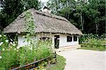 Old village house in museum Pirogovo, Kiev, Ukraine. Stock Photo - Royalty-Free, Artist: alionakuz                     , Code: 400-04561173