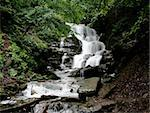 Waterfall Shelest in Carpathian mountains, west Ukraine Stock Photo - Royalty-Free, Artist: alionakuz                     , Code: 400-04561834