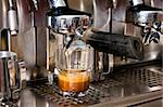Espresso machine making a n espresso in a glass Stock Photo - Royalty-Free, Artist: Multiart                      , Code: 400-04563557