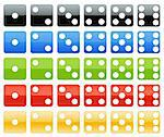 Dice in several colors with glossy style Stock Photo - Royalty-Free, Artist: myper                         , Code: 400-04564663