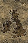 Great britain map on an ancient grunge parchment sheet background Stock Photo - Royalty-Free, Artist: myper                         , Code: 400-04564666