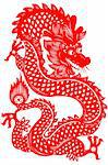 Traditional paper cut of a dragon.(fifth of Chinese Zodiac). Stock Photo - Royalty-Free, Artist: mylefthand                    , Code: 400-04565693