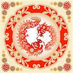 Traditional paper cut of a dragon.(fifth of Chinese Zodiac). Stock Photo - Royalty-Free, Artist: mylefthand                    , Code: 400-04565694