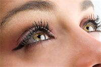 close up on the eyes of a young and beautiful woman Stock Photo - Royalty-Freenull, Code: 400-04566902