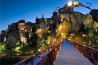 Dusk in the city of Cuenca (Spain) Stock Photo - Royalty-Freenull, Code: 400-04567958
