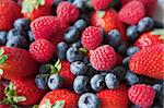 Summer collection of berries - strawberries, blueberries & raspberries, shallow depth of field. Great background image Stock Photo - Royalty-Free, Artist: danielgilbey                  , Code: 400-04568065