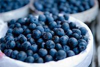A close- up image of blueberries in a basket Stock Photo - Royalty-Freenull, Code: 400-04573594