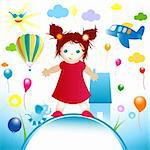 happy world, abstract design for kids Stock Photo - Royalty-Free, Artist: dip                           , Code: 400-04575202