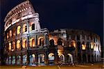The huge building of the Colosseum in Rome Italy