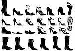 shoe silhouettes set, vector Stock Photo - Royalty-Free, Artist: beaubelle                     , Code: 400-04582127