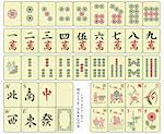 Custom-designed Mahjong whole set over the wood pattern isolated. Stock Photo - Royalty-Free, Artist: sahua                         , Code: 400-04582925